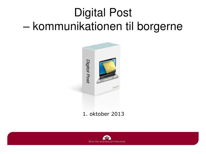 Digital post kommunikationen til borgerne