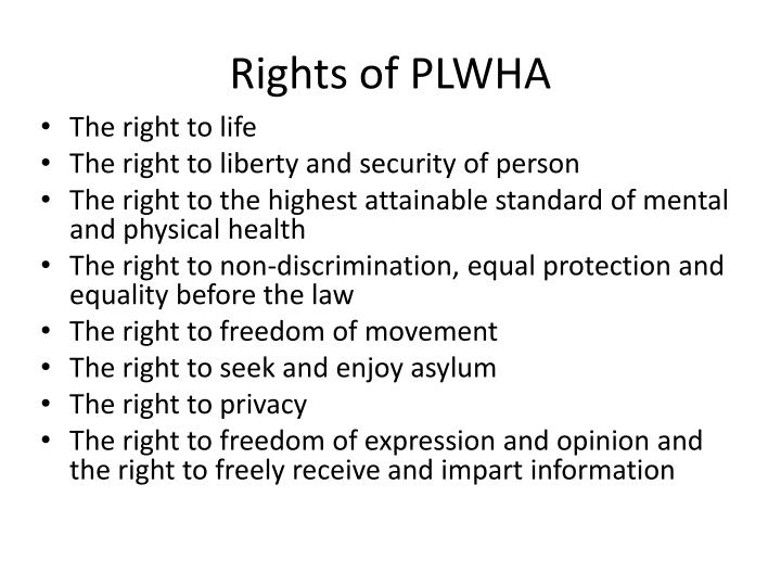 Rights of PLWHA