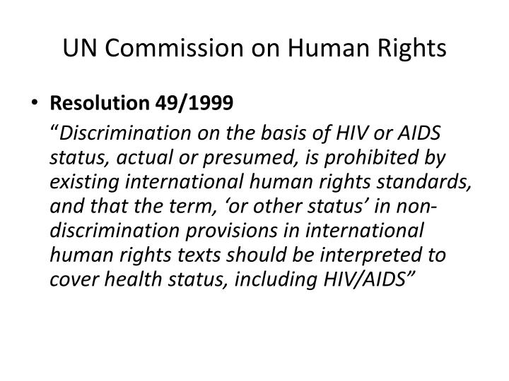 UN Commission on Human Rights