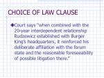 choice of law clause