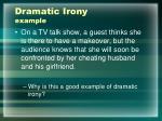 dramatic irony example