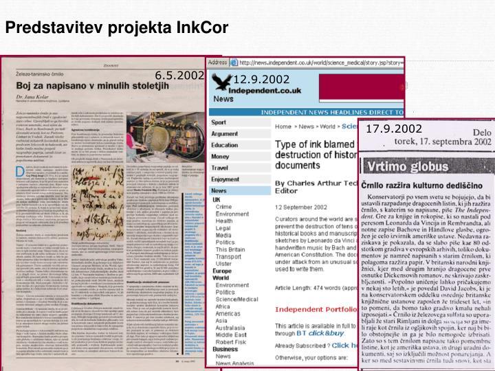 Predstavitev projekta InkCor
