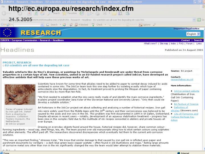 http://ec.europa.eu/research/index.cfm