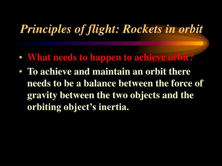 Principles of flight: Rockets in orbit