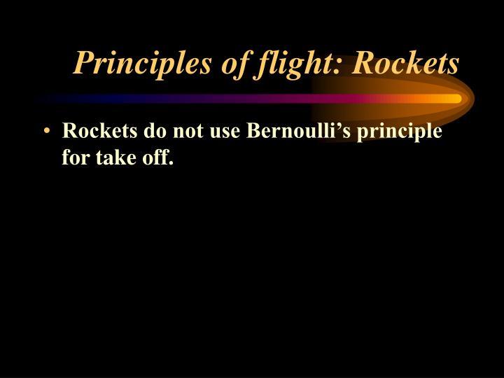 Principles of flight: Rockets