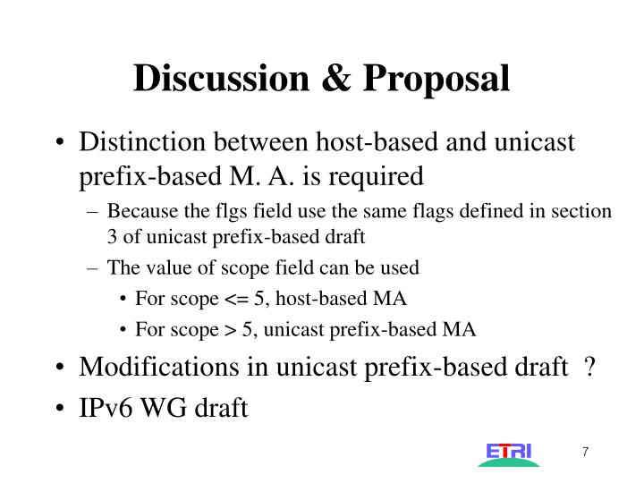 Discussion & Proposal