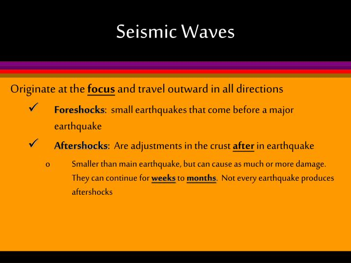 Seismic Waves