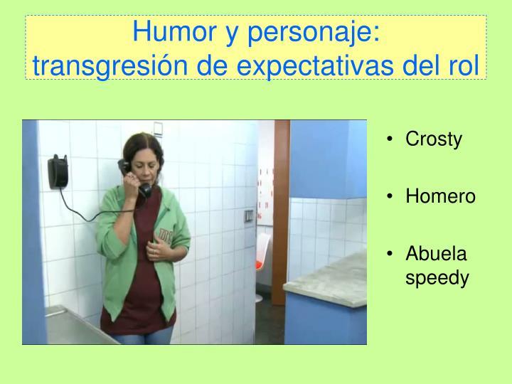 Humor y personaje: