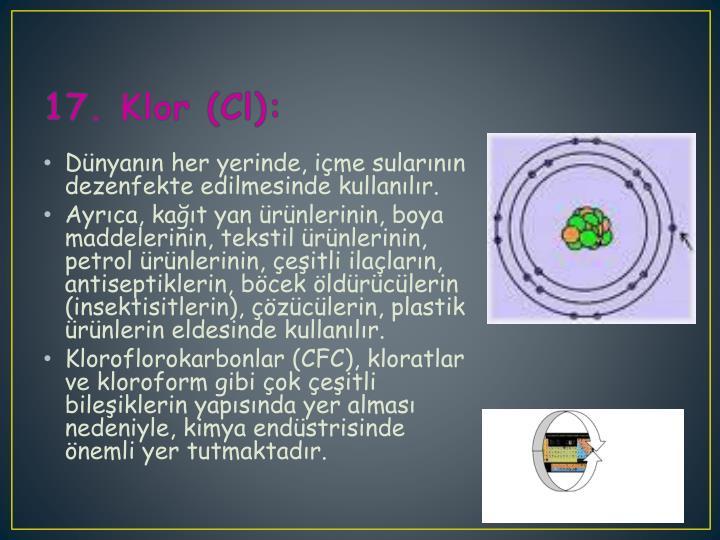 17. Klor (Cl):