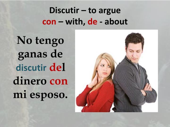 Discutir