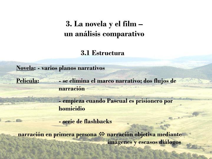 3. La novela y el film –
