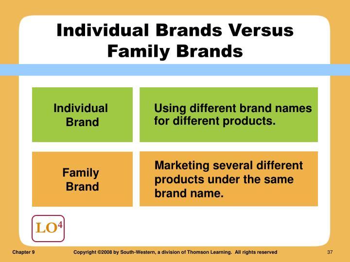 Individual Brands Versus