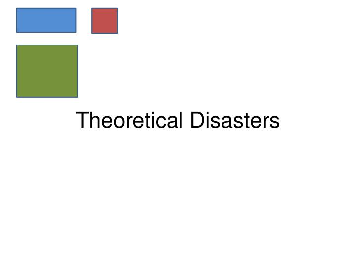 Theoretical Disasters