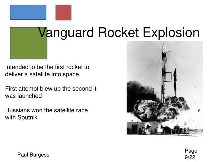 Vanguard Rocket Explosion