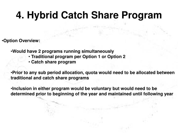 4. Hybrid Catch Share Program