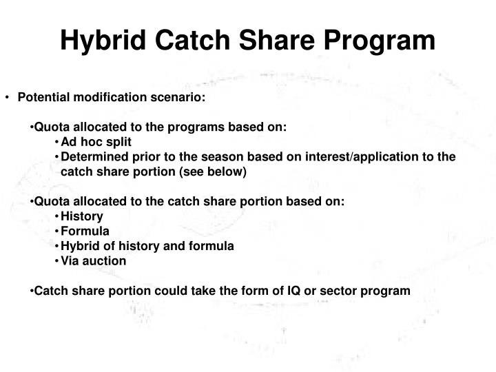Hybrid Catch Share Program
