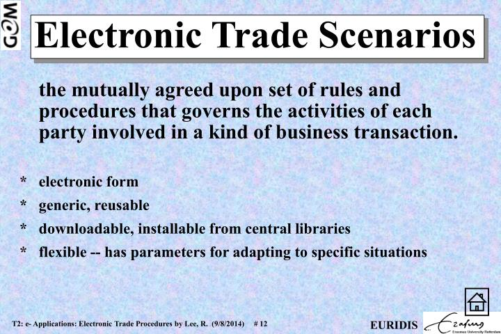 the mutually agreed upon set of rules and procedures that governs the activities of each party involved in a kind of business transaction.