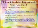 flickr youtube instructional uses continued2