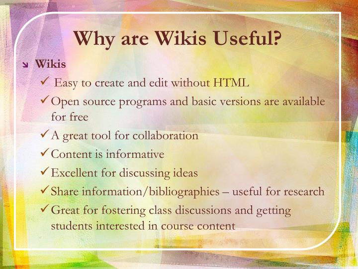 Why are Wikis Useful?