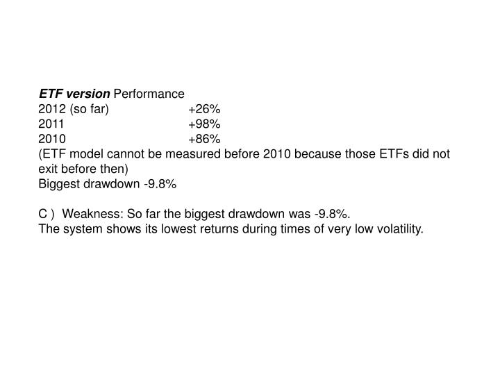 ETF version