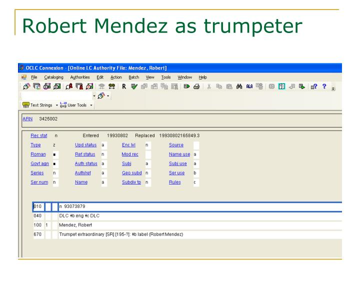 Robert Mendez as trumpeter