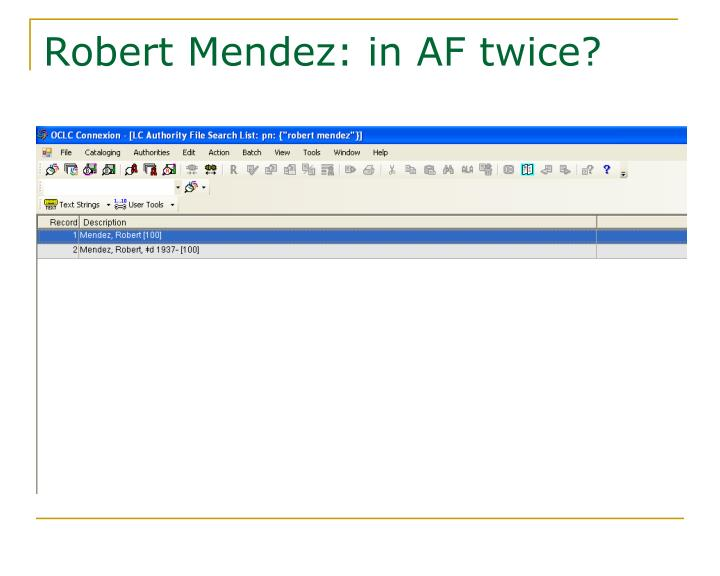 Robert Mendez: in AF twice?