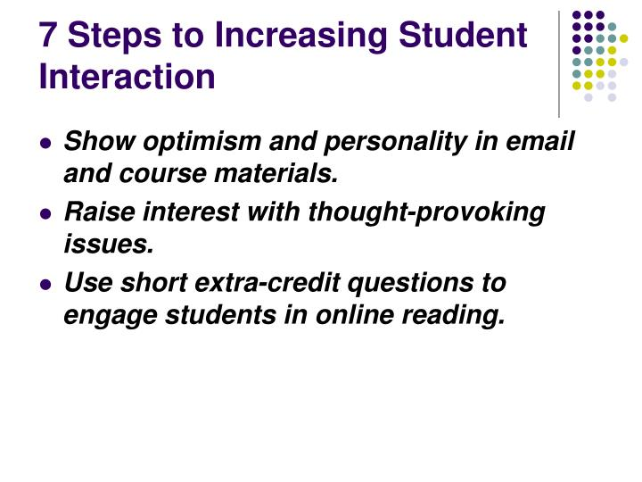 7 Steps to Increasing Student Interaction