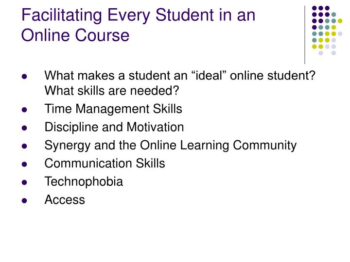 Facilitating Every Student in an Online Course