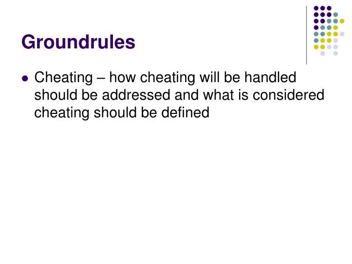 Groundrules