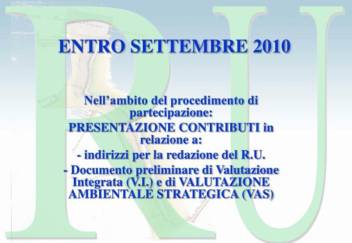 ENTRO SETTEMBRE 2010
