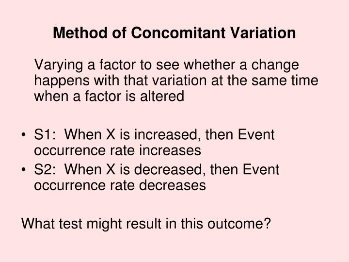 Method of Concomitant Variation