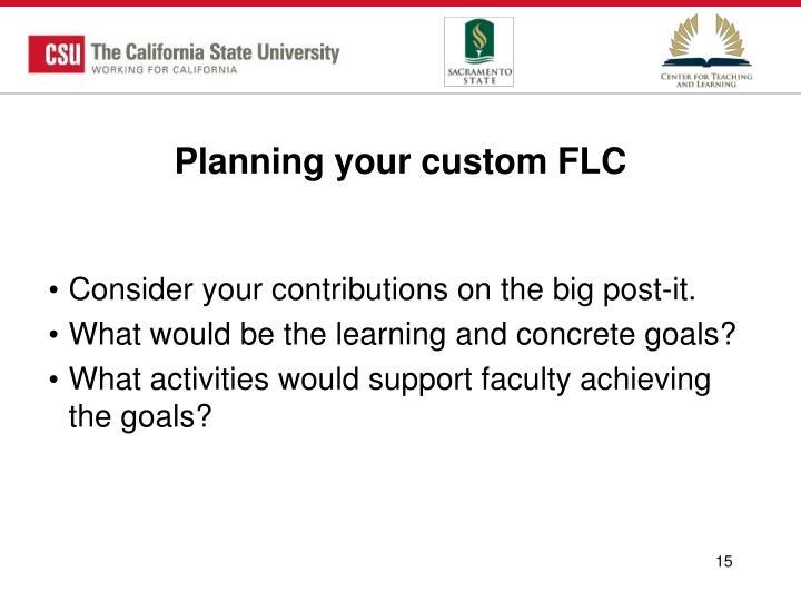 Planning your custom FLC
