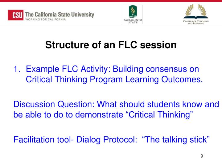 Structure of an FLC session