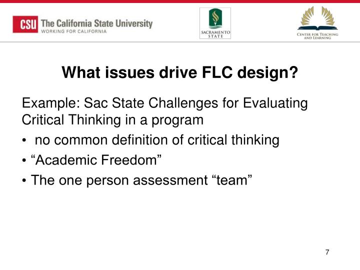 What issues drive FLC design?
