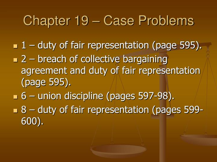 Chapter 19 – Case Problems