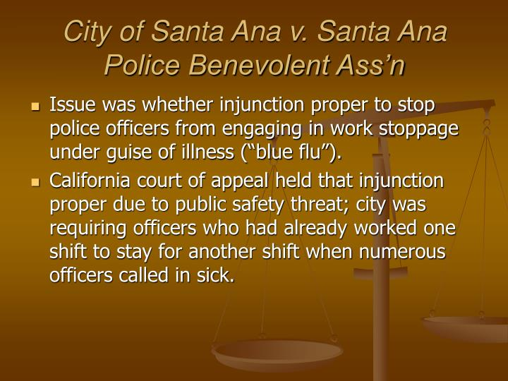 City of Santa Ana v. Santa Ana Police Benevolent Ass'n