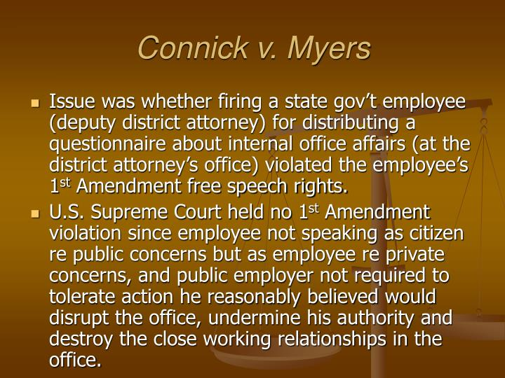 Connick v. Myers