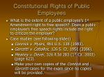 constitutional rights of public employees