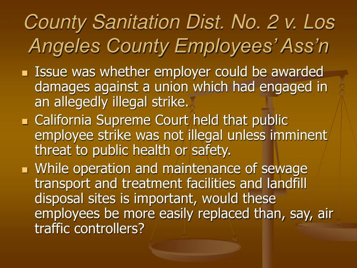 County Sanitation Dist. No. 2 v. Los Angeles County Employees' Ass'n