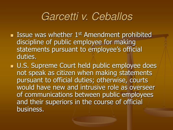 Garcetti v. Ceballos