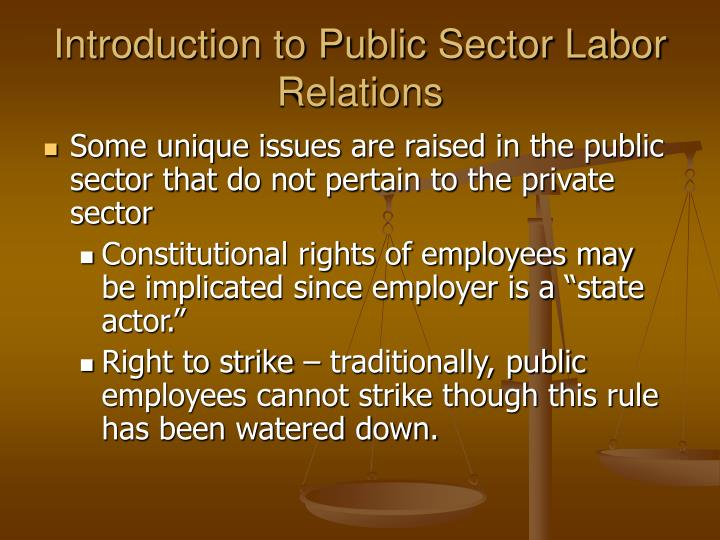Introduction to Public Sector Labor Relations