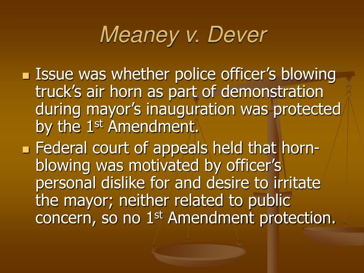 Meaney v. Dever