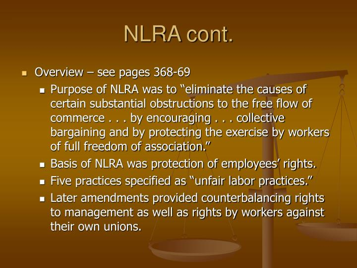 NLRA cont.