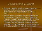 postal clerks v blount