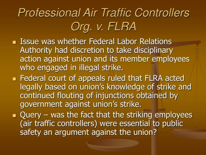 Professional Air Traffic Controllers Org. v. FLRA