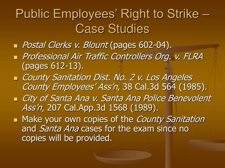 Public Employees' Right to Strike – Case Studies