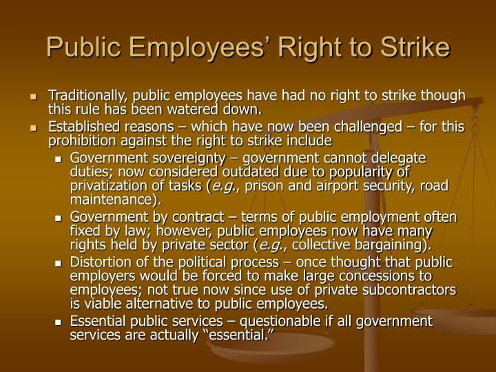 Public Employees' Right to Strike