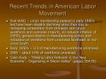recent trends in american labor movement