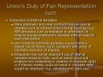 union s duty of fair representation cont2