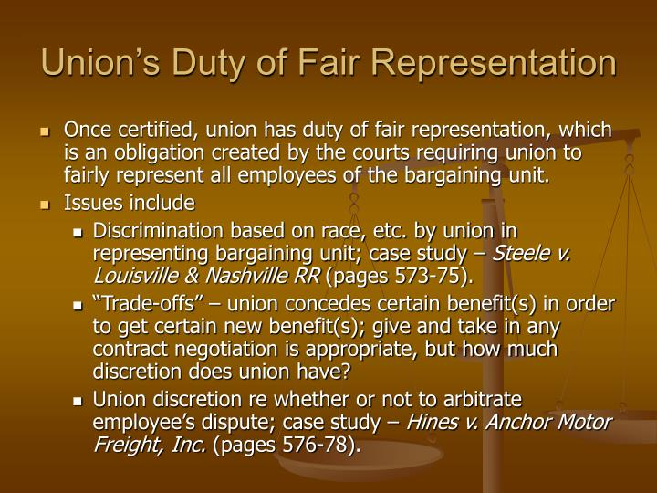 Union's Duty of Fair Representation